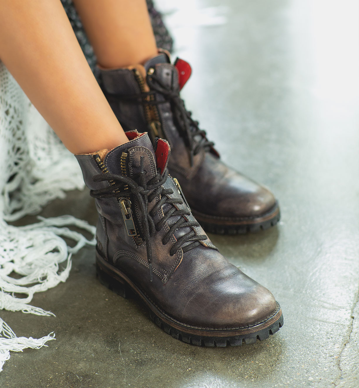 bedstu women's leather wedges
