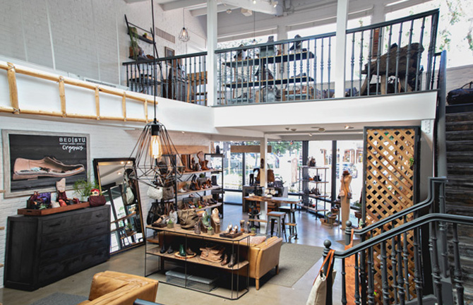 Interior image of Flagship store in Malibu California
