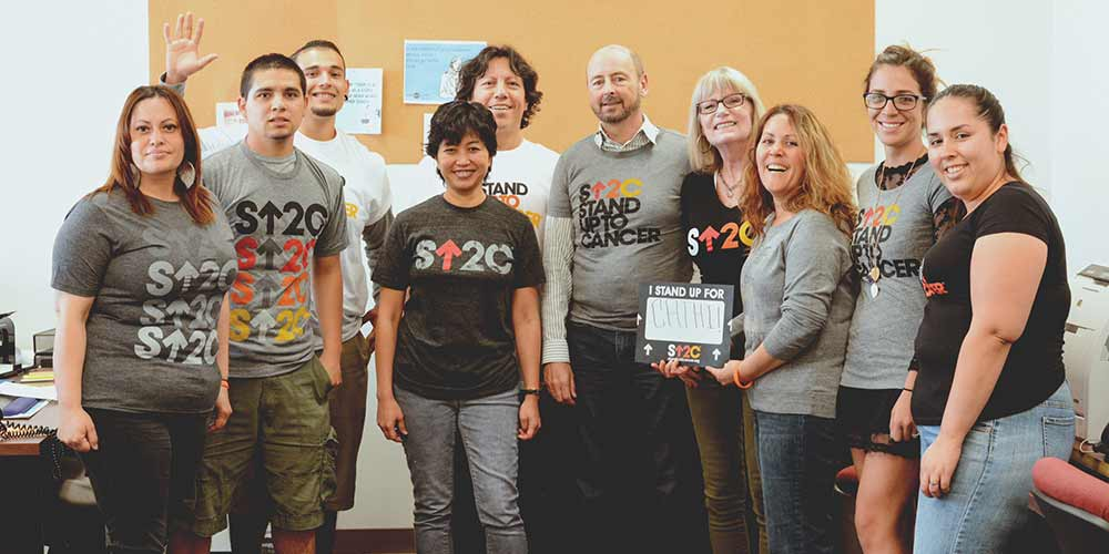 BED|STÜ's staff collaborating with Stand Up to Cancer.