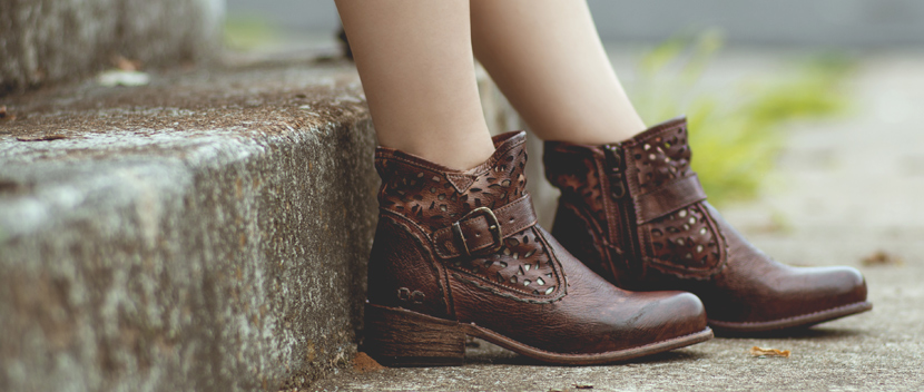 Buckle up! These edgy leather boots instantly add a little something extra to the ordinary.