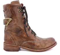 Bed|Stu's men's & women's leather boots, washed and tumbled for a worn finish.