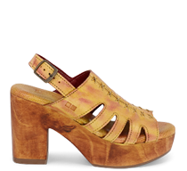 Fontella Wooden Sandals in Mango Multi