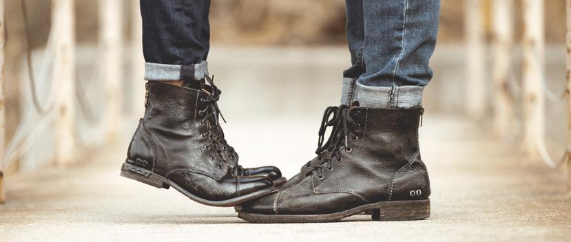 BED|STU black short boots for him & her (protege & laurel)
